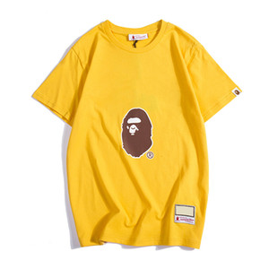 Bape Mens Designer T Shirt Bape Mens Women Designer Short Sleeves A Bathing Ape Men Camiseta de algodón de alta calidad Talla M-XXL