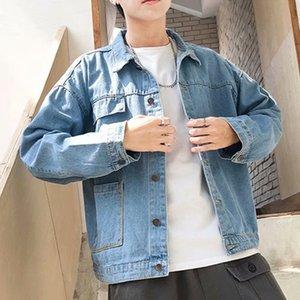 Popüler Marka Çevrimiçi Ünlü Jeans Coat Erkekler INS Bahar Ve Sonbahar Kore tarzı Kıyafetleri Denim Ceket Erkek Gevşek-Fit handsom