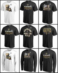 Santos de la camiseta Pro Line Nueva Orleans hombres para los fanáticos de Marca Sur División Champions Fair Catch manga larga camiseta
