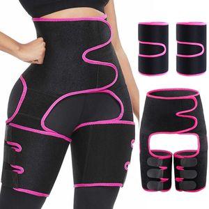 Actualizar la cintura Trainer 3-en-1 muslo recortadores con BuLifter talladora del cuerpo del brazo de la correa para la cintura ayuda del deporte Bandas de entrenamiento sudor