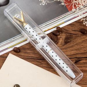 Новые одноместные корпусы ручки для Crystal Ballpoint Pen Office School Schoods Holder Holder Бесплатная доставка