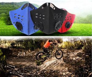 Máscaras camino de la montaña de la bicicleta de la media cara PM 2.5 Anti-Polvo de ciclo respirable de la mascarilla del carbón activado Ciclismo Running Máscara de bicicletas