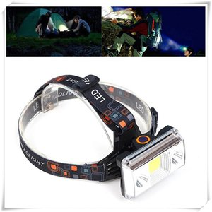 Headlamps 10000 Lumens COB LED Headlamp USB Charging Headlight Tactical 4-Mode Bicycle Flashlight Hunting Head Light Head Torch Lamp