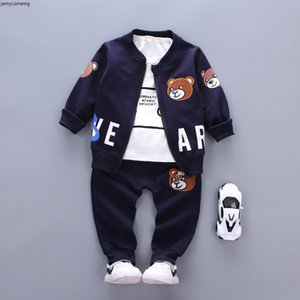 Girls Outlet Brand New Children Clothing Boys Sets Spring Autumn 2019 Fashion Style Cotton Coat With Pants Baby Clothes 3 Pcs Tracksuit