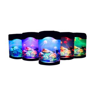 Медуза светодиодная лампа Медуза ночник Аквариум рождественское украшение мир плавание настроение свет LED красочные аквариумные ночные огни