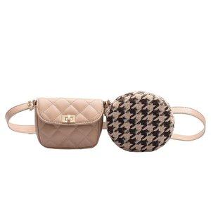 Designer-Rosa Sugao Frauen Taillenbeutel 2pcs / set designer Kette Taschenbeutel Doppelrucksackbeutel neue Modekette Taschen PU-Leder