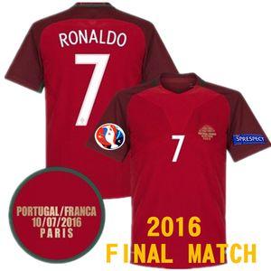 FRANSA RONALDO FIGO NANI camisa de futebol EDER QUARESMA FUTBOL formaları vs 2016 SON MAÇ Optimus Retro futbol forması