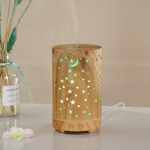 Madeira estrela 100ml aroma umidificador cores purificador de mini-escritório área de trabalho criativo de ar home portátil máquina aromaterapia