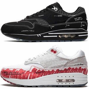 2019 Designer Esboço para Shelf x 1 Mens correndo Tinker Mulher Moda Maxes sapatos 1s Sneakers Universidade Red 1s Shoe Trainers Chaus