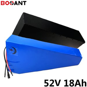 samsung 30Q için 48V 750W 1000W motoru 51.8V elektrikli bisiklet Li iyon batarya için güçlü 2000W 1500W 52V 18Ah üçgen pil