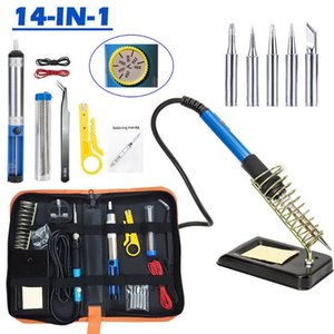 14 1 Elektrik Luo Demir Teneke Welding Torch El Lehimleme Torch Ayarlanabilir Sıcaklık Elektrik Gun Havya Araç Seti içinde