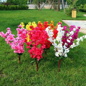 1 mazzetto 7 forcelle artificiale Cherry Spring Plum pesco ramo seta dell'albero del fiore Decor 53cm 2019