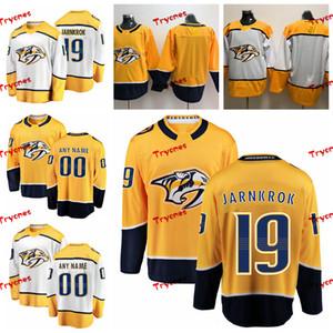 2019 personnaliser Calle Jarnkrok Nashville Predators chandails cousus à la maison personnalisé Chemises d'or # 19 Calle Jarnkrok chandails de hockey S-XXXL