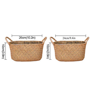Wicker Weaving Storage Basket for Kitchen Handmade Fruit Dish Rattan Picnic Food Bread Loaf Sundries Neatening Container Case