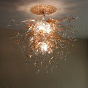 A mano moderna soffiato di Murano Glass Chandelier illuminazione su misura in vetro di Murano a buon mercato piccolo LED lampadario chiaro Lampade a sospensione
