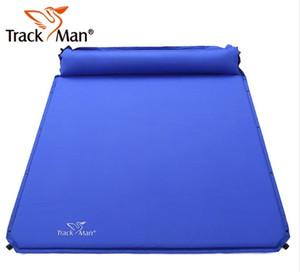 2017 على بيع Trackman 2 pesron automatic inflatable mattress moisterty-proof latch cusion bbq pad outdor cmaping mattress