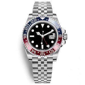 2020 Plus récents Plus Mens Watch Basel Rouge Bleu Pepsi automatique Mens Watch lumineux affaires Waterproof 30M2020 Plus récents Plus Mens Watch Basel rouge