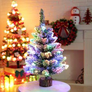 LED Mini Christmas Tree Lighting Строка ПВХ Desktop Малый таблицы дерева украшения Главная украшения партии Принадлежности для Рождества 50см