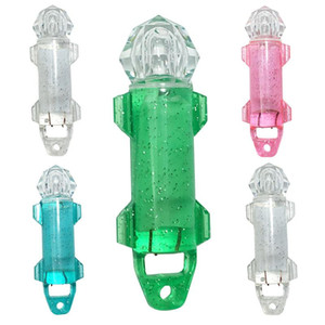 Profundo LED gota Submarino Diamond Pesca del flash de la lámpara de luz de fibra atraer cebo atraer a los peces Luces Atraer indicador estroboscópico CCA11710 50pcs