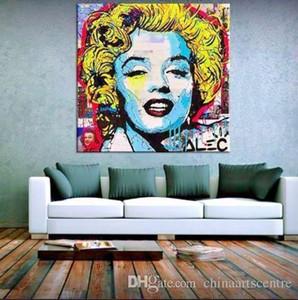 vA Alec Monopoly alta calidad pintado a mano de la impresión de HD pintura abstracta pintada al óleo del arte Marylin Monroe en lona Wall Art Deco Home Office 122