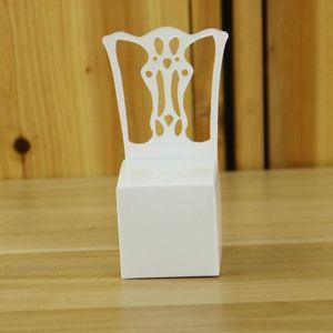 Европейский дизайн Белый стул Свадебный Фавор Держатели Birthday Party Baby Shower бонбоньерок DIY Подарки Box