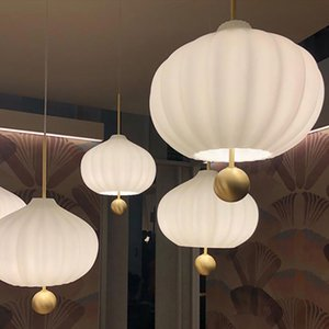 2020 Italian creative restaurant glass chandelier lamp hotel project sales office simple atmospheric
