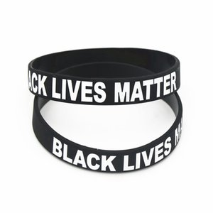 Schwarz Lives Matter Silikon-Armband ICH KANN NICHT BREATHE Schwarz-Silikon-Gummi-Armband-Armbänder für Männer Frauen Geschenke Partei-Bevorzugung RRA3133