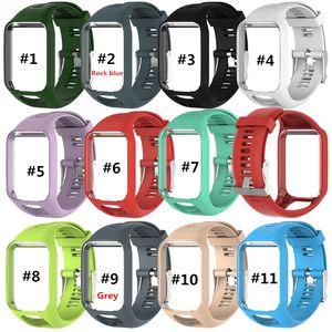 DHL Watchband TomTom için TomTom Runner 2 3 GPS İzlemek İçin 2 3 Serisi Saat Kayışı Silikon Yedek Bilek Bandı Kayışı