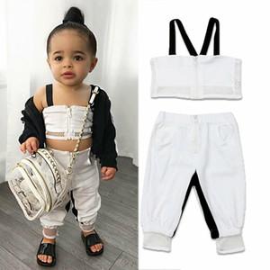 2020 Мода Дети Одежда Набор для новорожденных Baby Girl Kid Mesh Sling Crop Tops Long Pant Брюки Summer Fashion Girl Одежда Set