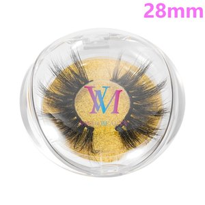 28mm Mink Lashes 9 Styles 5D Silk Protein Mink False Eyelashes Long Lasting Lashes Natural Mink Eyelashes Round Box Packaging