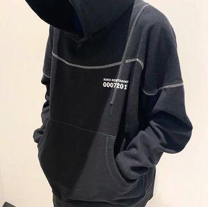 Mens Designer Hoodies Marke Kiko Kostadinov 19AW 007 Lose Aufmaß Hip Hop Hoodies beiläufige mit Kapuze Sweatshirts High Street Pullover