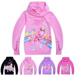 jojo siwa одежда для детей толстовки весна и осень 4-12т дети девочки пуловер толстовки 110-150см детская дизайнерская одежда для девочек оптом TSS349