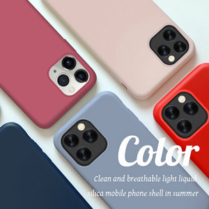 new phone case For iphone case 11 Pro Max SE 2 2020 designer phone case Cute Candy Color Couples Soft Silione Back Cover