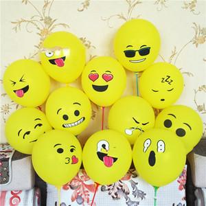 Sarı Gülen Yüz Balonlar Karikatür Şişme Doğum Ana Düğün Süsleme Kid Parti Malzemeleri için Lateks Balon Gülümseme 10inch 10pcs / lot
