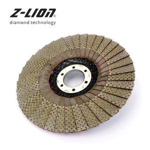 Z-LION 5 pouces 1pc 60/100/200/400 Grit Meules 125mm Flap Abrasif de Sablage disque pour meuleuses diamant Ponçage Pad