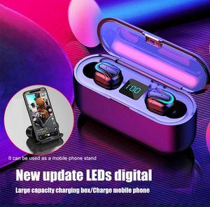 Q32-1 TWS Earbuds BT5.0 Wireless Headphones Earphone Waterproof Headset led display powerbank vs tour 3 buds for iphone x 11 universal