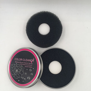 Venda quente Cor limpador de maquiagem escova de limpeza caixa de folha de flandres Esponjas ferramenta de limpeza para a lavagem de pincéis de maquiagem DHL Frete Grátis