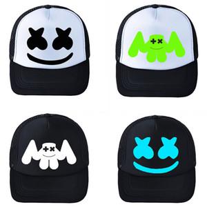 Gorra de béisbol Net Cap DJ Marshmellow Hat Street Hip Hop Marshmallow Smile face Gorras planas Niños Black Summer Sombreros para niños Adultos Mujeres