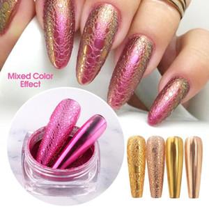 0.5 g Tırnak Ayna metalik toz pigment kabarcık Sabun köpüğü Tırnak Sanat Polonya altın kabarcık Serpantin titanyum altın elektrolizle