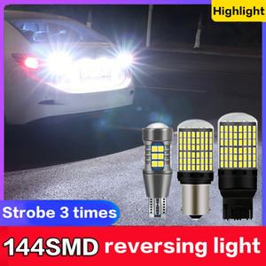 2 Stück 144 LED Strobe 3 Zeit LED-Licht Backup Lampe 1156 T20 T15 LED P21W W16W W21W 7440 Weiß 6000K BAU15S Umkehr