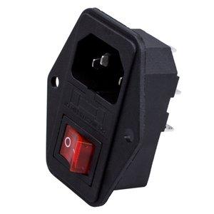 3 Pin IEC320 Module d'entrée C14 fusible Connecteur mâle Interrupteur d'alimentation Prise 10A 250V Autres Accueil Stockage