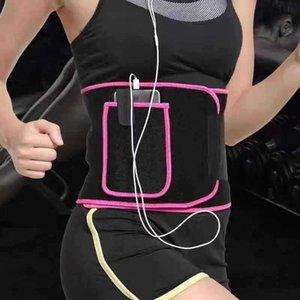 Pérdida de Apoyo a la cintura del condensador de ajuste de la correa Patch peso del ejercicio de aptitud de la gimnasia Cinturones protector de levantamiento de pesas de formación de bolsillo del abrigo delgado LJJK2095