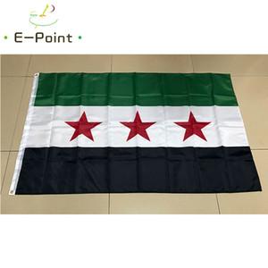 Siria Paese bandiera siriana Indipendenza Bandiera 3 * 5ft (90cm * 150cm) Poliestere Banner decorazioni battente la bandiera giardino di casa