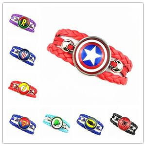 Jiangzimei 24pcs l'America Iron Man Logo vetro Cabochon Bracciali braccialetto registrabile