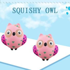 Squishy Owl lenta Nascente Toy Forma Anti Estresse Toy Descompressão Squeeze brinquedo para crianças Adultos Ansiedade Atenção