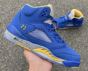 Schiff mit Kasten 5s JSP Laney Mann Basketball-Designer-Schuhe Varsity Königs Licht Charcoal Varsity Maize V Fashion Sneakers gute Qualität
