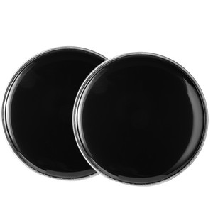 """Shelf drum leather 10 """"jazz drum face double oil leather black leather packed in 2pcs"""