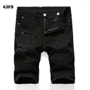 Idopy Мужчины Ripped Байкер Джинсовые шорты летние мотоцикла джинсы шорты для мужчин-Мульти Карманы Brand Designer Plus Размер 28-401