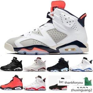 Новые 6 6s мужчины женщины Баскетбол обувь Black Cat Инфракрасный спортивный синий Бордовый Olympic Alternate Hare черный Oreo Chrome Злой бык J6 кроссовки