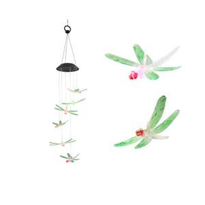 Mariposa colgante de la energía solar Lámparas LED gradiente de colores regalo exquisito Windbell lámpara creativa de belleza con diferentes estilos 19 5RR J1